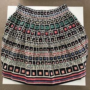 Geometric French Connection 100% Cotton Skirt